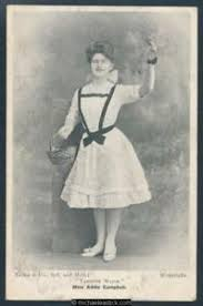 Glamour black & white postcard of Miss Addie Campbell as Tambour ...