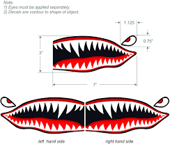 Motorcycle Decals Stickers Flying Tigers Shark Teeth Decals Purple Wwii Kayak Canoe Motorcycle Reflective Auto Parts And Vehicles Hotelfamily Ba