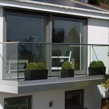 u channel tempered glass balcony design