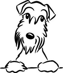 Schnauzer Vinyl Car Decal Sticker Schnauzer Art Dog Art Schnauzer