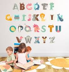 Abc Animal Alphabet Peel And Stick Alphabet Decal Fabric Wall Decal Woodland Wall Stickers A Kids Wall Decals Wall Decals Fabric Wall Decals