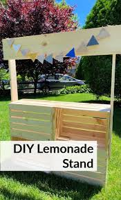 how to build a lemonade stand from crates