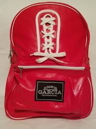 Genuine Leather Red and White Boxing Backpack