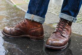 leather shoes from rain sleet