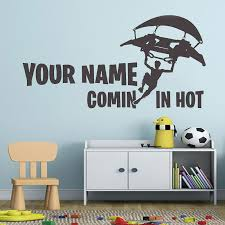 Personalized Name Wall Sticker For Gaming Kids Room Decoration Boy Room Vinyl Decal For Gamers Room Large Game Wall Art Hy257 Wall Stickers Aliexpress