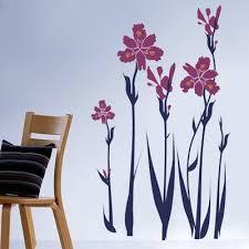 Pop Decors Iris Wall Decal Color Lavender Medium Blue Floral Wall Decals Wall Decals Removable Vinyl Wall Art