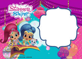 Free Shimmer And Shine Invitation Template Bday Invitations