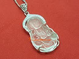 clear quartz kuan yin 925 silver framed