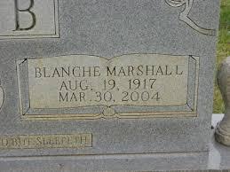 Blanche Ava Webb (Marshall) (1917 - 2004) - Genealogy