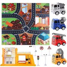 Loviver Kids Carpet Playmat Rug City Life Great To Play With Cars Toys Have Fun Safe Learn For Children Baby Bedroom Room Game Mat Rugs Engineering Truck Educational Toys Planet