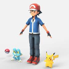 Satoshi from Pokemon Superdimensional Free 3D Model