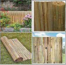 Bamboo Slat Natural Garden Screening Fencing Fence Panel Privacy Screen Roll New Ebay