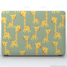 Giraffe Kindergarten Cute Yellow Giraffe Babies Laptops Apple Macbook Pro 15 Decal Skin Wrap Sticker Cute