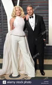 File foto datata 28/02/16 di Lady Gaga e il suo fidanzato attore Taylor  Kinney che hanno messo il loro rapporto in attesa mentre sono in trattativa  con i ceppi di celebrità Foto