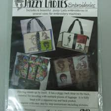 Perfectly Balanced Bag with Jazzy Ladies Embroideries - Design CD
