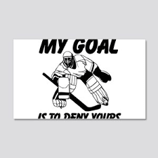 Hockey Goalie Wall Decals Cafepress