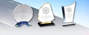 acrylic award vs glass award vs