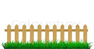 Green Grass With Fence Stock Vector Colourbox