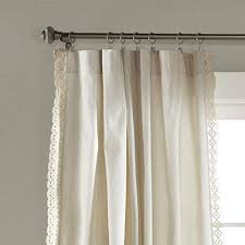 Lush Decor Rosalie Window Curtains Farmhouse Rustic Style Panel Set For Living Dining Room Bedroom Pair 84 X 54 Ivory Farmhouse Goals