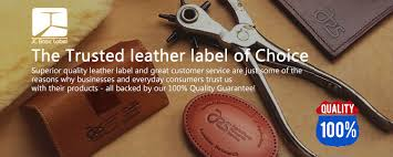 custom embossed real leather patch fake