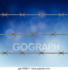 Clip Art Vector Barbed Wire Fence Stock Eps Gg71689617 Gograph