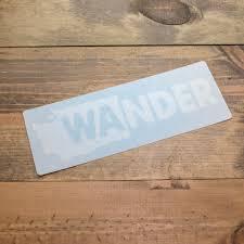 Wander Washington Decal Cda Idaho Clothing Company