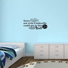 Zoomie Kids Sorry Princess Volleyball Wall Decal Wayfair