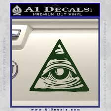 All Seeing Eye Nwo Illuminati D3 Decal Sticker A1 Decals