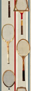 tennis rackets wallpaper funkywalls