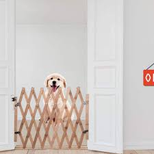 Door Stair Gates Baby Products Height 48cm Retractable Pet Gate Wood Dog Sliding Door Indoor Dog Gate Doorway Stairs Puppy Safety Fence Telescopic Length 60 110cm