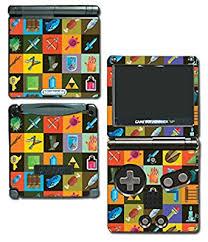 Amazon Com Legend Of Zelda Retro Link Item Weapon Art Video Game Vinyl Decal Skin Sticker Cover For Nintendo Gba Sp Gameboy Advance System Video Games