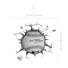 Baseball Breaking Wall Stickers Moonwallstickers Com