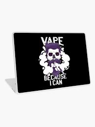 Funny Vape Skull Vaping Hipster Skeleton Beard E Cigarette Ecig Vapor Laptop Skin By Loveandserenity Redbubble