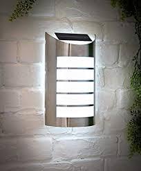 stainless steel led solar wall light