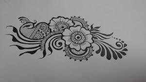 mehndi design easy on paper