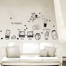 Buy Removable Wall Stickers Happy Fruit Food Breakfast Pastry Kitchen Dining Table Wall Stickers Sticker Decorative Wall Hangings Cupboard In Cheap Price On M Alibaba Com