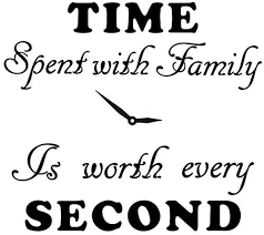 Amazon Com Family Wall Decals Time Spent With Family Is Worth Every Second Wall Decal Quote Home Decor Art Quote Decals Wall Art Stickers Decal Home Kitchen