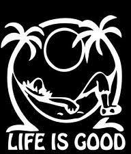 Amazon Com Keen Life Is Good At The Beach Decal Vinyl Sticker Cars Trucks Walls Laptop White 5 5 In Kcd642 Automotive