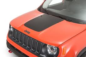 Quadratec Premium Vinyl Hood Blackout Decal For 15 18 Jeep Renegade Quadratec