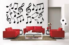 Amazon Com Newclew 42 Music Notes And Symbols Removable Vinyl Wall Decal Home Decor Large Music 2 Home Kitchen