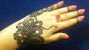 simple jewellery mehndi designs for