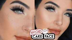 how to avoid cake face makeup simple