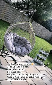 Inside Mrs Hinch S Garden Including Her Custom Bbq Trolley Egg Chair Water Feature And Bargain Bench Celebrity Cover News