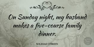 soledad o brien on sunday night my husband makes a five course