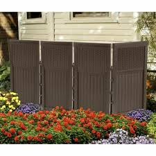 Privacy Fence Panels Outdoor Folding Screen Divider To Hide Garbage Can Brown For Sale Online Ebay