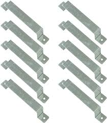 Woodside Pack Of 10 Fence Panel Security Brackets Fits 4 X 4 Posts Strong Galvanised Steel For Concrete Or Wood Predrilled Fixings Included Amazon Co Uk Garden Outdoors