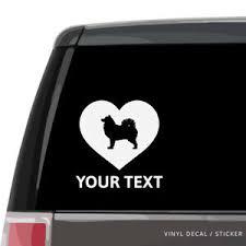 Samoyed Dog Silhouette Heart Car Window Decal Vinyl Sticker Wall Laptop Ebay
