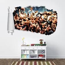 Wwe Wrestlers 3d Torn Hole Ripped Wall Sticker Decal Home Decor Art Mural Wt210 Home Garden Children S Bedroom Boy Decor Decals Stickers Vinyl Art Gastrope Com Br