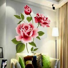 Living Room Floral Garden Decor Wall Decals Art For Sale In Stock Ebay