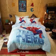 kid s super hero spider man bedding set